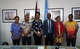 Ms. Darusila Puipui (participant), Mr. Joe Harry (participant), Ms. Adekemi Ndieli (Deputy Country Representative of UN Women in PNG), Mr. Koffi Kouame (Country Representative of UNFPA in PNG), Ms. Lydia Dimokari (participant), Mr. Milton Kisapai (participant) /(from left to right)